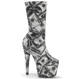 Billets dun dollar toile 18 cm ADORE-1002DP bottines à plateforme