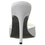 Blanc 10 cm CLASSIQUE-01 mules talons hauts