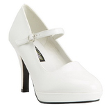 Blanc 10 cm CONTESSA-50 Mary Jane Escarpins Chaussures