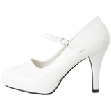 Blanc 10 cm CONTESSA-50 Mary Jane Escarpins Chaussures