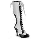 Blanc 11,5 cm TEMPT-126 Bottes à Lacets Femmes