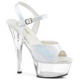 Blanc 15 cm KISS-209BHG Plateforme Chaussures Talon Haut