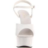 Blanc 15 cm Pleaser DELIGHT-609 Talons Hauts Plateforme