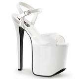 Blanc 18,5 cm Devious TRAMP-709 Fetiche Chaussure Talons Hauts