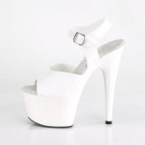 Blanc 18 cm ADORE-708N Plateforme Chaussures Talon Haut
