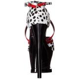 Blanc 18 cm Pleaser MOON-740 Platform High Heel Chaussures