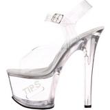 Blanc 18 cm TIPJAR-708-5 sandales plateforme pour stripteaseuse