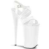 Blanc 25,5 cm BEYOND-097 Plateforme Chaussures Talon Haut