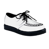 Blanc Cuir 2,5 cm CREEPER-602 Chaussures Creepers Hommes Plateforme
