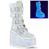 Blanc Glitter 14 cm SWING-230G bottes cyberpunk plateforme