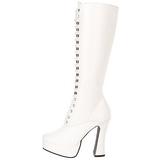 Blanc Mat 13 cm Pleaser ELECTRA-2020 Plateforme Bottes Femmes