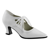 Blanc Mat 7 cm VICTORIAN-03 Escarpins Chaussures Femme