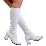 Blanc Mat 8,5 cm GOGO-300 Bottes Femmes pour Hommes
