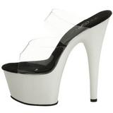 Blanc Neon 18 cm ADORE-702UV Plateforme Mules Chaussures