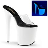 Blanc Neon 20 cm FLAMINGO-801UV Plateforme Mules Chaussures
