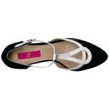 Blanc Noir 5 cm FAB-428 grande taille escarpins femmes