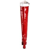 Blanc Rouge 13 cm ELECTRA-2090 Cuissardes Bottes Plateforme