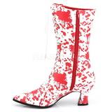 Blanc Rouge 7 cm VICTORIAN-120BL bottines à lacets femmes