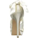 Blanc Satin 12 cm LUMINA-29 Sandales de Soirée a Talon
