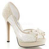 Blanc Satin 12 cm LUMINA-33 Chaussures Escarpins de Soirée