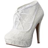 Blanc Satin 13 cm LOLITA-32 Chaussures Escarpins de Soirée