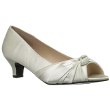 Blanc Satin 5 cm FAB-422 grande taille escarpins femmes