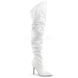 Blanc Similicuir 10 cm CLASSIQUE-3011 Bottes Cuissardes Talons Hauts