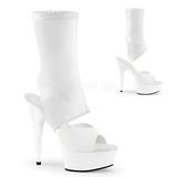 Blanc Similicuir 15 cm DELIGHT-1022 bottines plateforme pour femmes