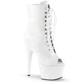 Blanc Similicuir 18 cm ADORE-1021 bottines plateforme pour femmes