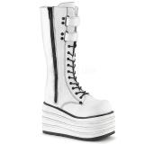 Blanc Toile 10 cm MORI-310 bottes demonia plateforme