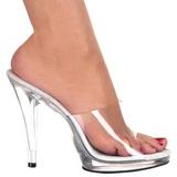 Blanc Transparent 12 cm FLAIR-401 Chaussures Mules pour Hommes
