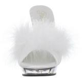 Blanc Transparent 13 cm LIP-101-8 Plateau Mules Talons Hauts