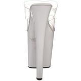 Blanc Transparent 20 cm XTREME-802 Plateau Mules Talons Hauts