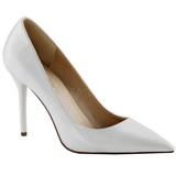 Blanc Verni 10 cm CLASSIQUE-20 Escarpins Talon Aiguille Femmes