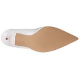 Blanc Verni 10 cm CLASSIQUE-20 escarpins à talon aiguille bout pointu