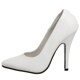 Blanc Verni 10 cm VANITY-420 Escarpins Chaussures Femme