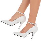 Blanc Verni 10 cm VANITY-431 Escarpins Chaussures Femme