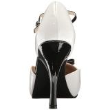 Blanc Verni 11,5 cm PINUP-02 grande taille escarpins femmes