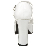 Blanc Verni 11 cm MARYJANE-50 Mary Jane Escarpins Haut Talon