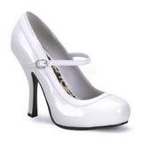Blanc Verni 12 cm PRETTY-50 Escarpins Chaussures Femme