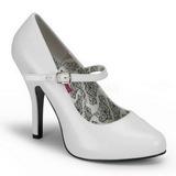 Blanc Verni 12 cm TEMPT-35 Escarpins Chaussures Femme