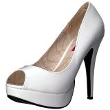 Blanc Verni 13,5 cm CHLOE-01 grande taille escarpins femmes