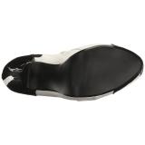 Blanc Verni 13,5 cm CHLOE-11 grande taille escarpins femmes
