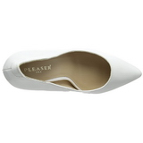 Blanc Verni 13 cm AMUSE-20 Escarpins Talon Aiguille Femmes