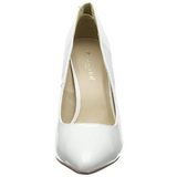 Blanc Verni 13 cm AMUSE-20 escarpins à talon aiguille bout pointu