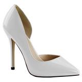 Blanc Verni 13 cm AMUSE-22 Chaussures Escarpins Classiques