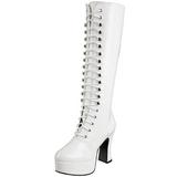 Blanc Verni 13 cm ELECTRA-2020 Plateforme Bottes Femmes