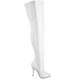 Blanc Verni 13 cm SEDUCE-3010 bottes overknee femme