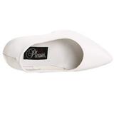 Blanc Verni 13 cm SEDUCE-420 Escarpins Talons Aiguilles Hommes