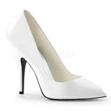 Blanc Verni 13 cm SEDUCE-420 escarpins à bout pointu